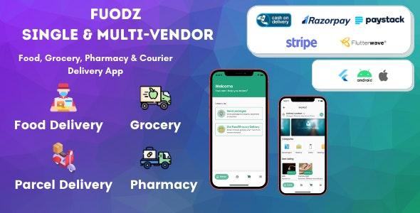 Fuodz v1.2.5 – 杂货、食品、药房快递应用 + 后端 + 司机和供应商应用
