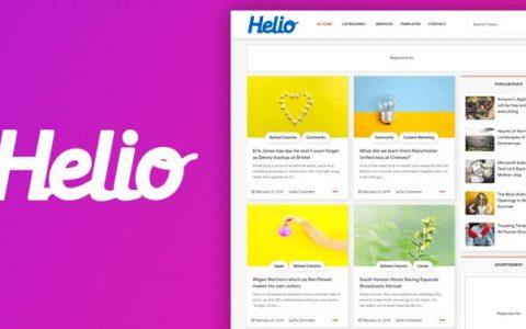 Helio 网格样式现代博客模板