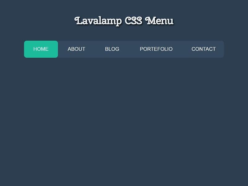 Lavalamp CSS 水平菜单