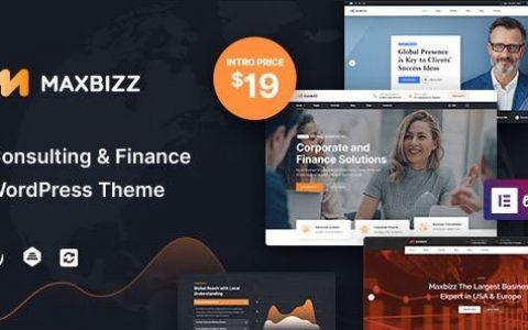 Maxbizz – 咨询和金融元素 WordPress 主题
