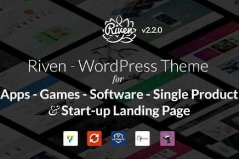 Riven – 应用程序、游戏、单一产品登陆页面的 WordPress 主题