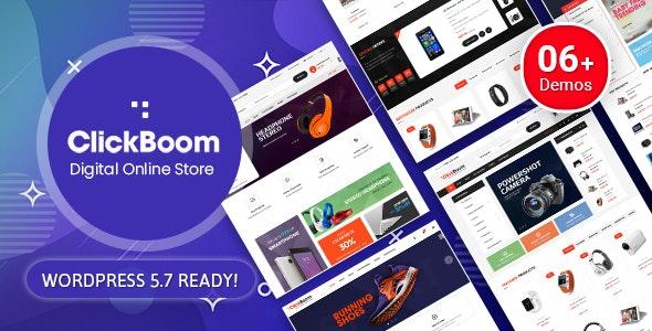 ClickBoom v1.6.6 – 数字商店 WooCommerce WordPress 主题(6+ 主页设计)