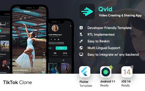 抖音App v2.2 | 视频创建Android应用模板+短视频iOS应用模板| 颤振 2 | 视频