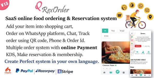 SaaS WhatsApp 网上订餐 v1.5 / 餐厅管理 / 订房系统