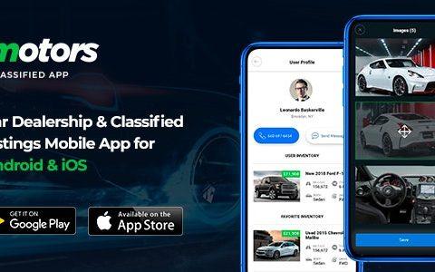 Motors v1.2 – 适用于 Android 和 iOS 的汽车经销商和分类列表移动应用