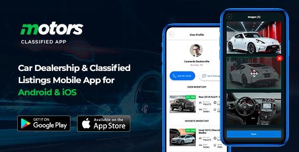 Motors v1.2 – 適用於 Android 和 iOS 的汽車經銷商和分類列表移動應用