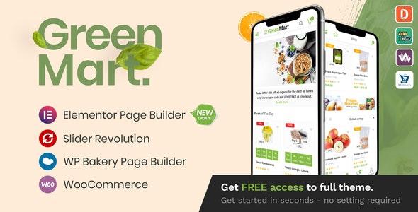 GreenMart v3.1.0 –有机和食品WooCommerce WordPress主题