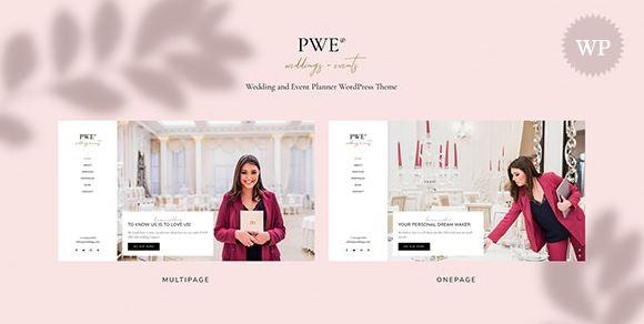 PWE - 婚礼和活动策划 WordPress 主题