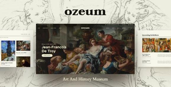 Ozeum - 现代艺术画廊和创意在线博物馆 WordPress 主题