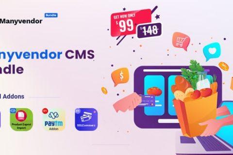 Manyvendor v2.0 – 电子商务和多供应商 CMS 捆绑包