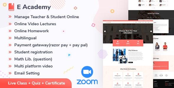 E- Academy v1.2 – 在线学习管理系统和直播课程(网络)