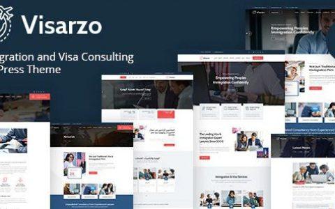 Visarzo – 移民和签证咨询 WordPress 主题