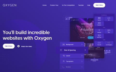 Oxygen Builder v3.8.1 – WordPress 可视化页面编辑器