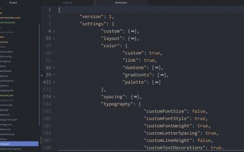 WordPress 主题作者关于 JSON 文件和块主题的公开调查