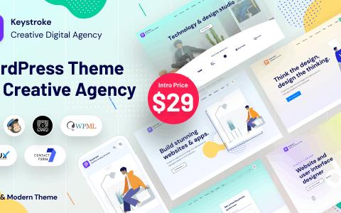Keystroke v1.1.0 – Creative Agency, Digital Agency WordPress 主题