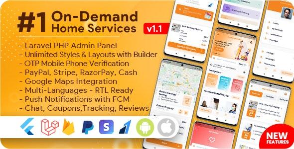 On-Demand Home Services v1.1.6, 商业列表,使用管理面板的杂工预订