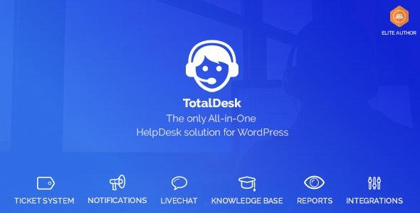 TotalDesk v1.7.19 – 帮助台、实时聊天、知识库和票务系统