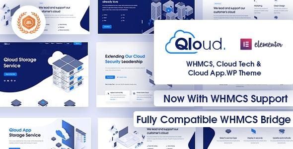 Qloud v2.5 – WHMCS、云计算、应用程序和服务器 WordPress 主题