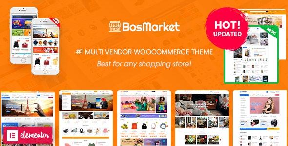 BosMarket v2.0.4 – 灵活的多供应商 Elementor WooCommerce WordPress 主题(12 个索引 + 移动布局)