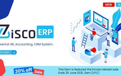 ZiscoERP v4.0.2 – 强大的人力资源、会计、CRM 系统