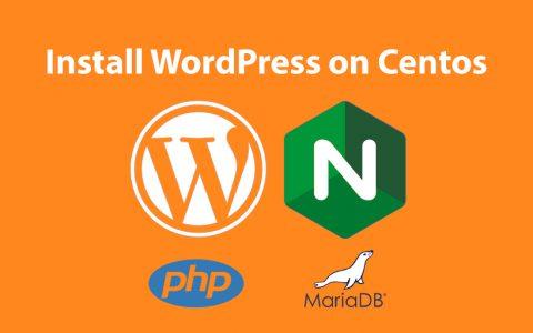 如何在 Centos 8 上安装 WordPress – Nginx – PHP (LEMP) + Let's Encrypt