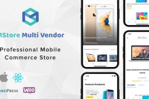 MStore Multi Vendor v1.5.0 - WooCommerce 的完整 React Native 模板