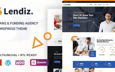 Lendiz – 贷款和融资机构 WordPress 主题