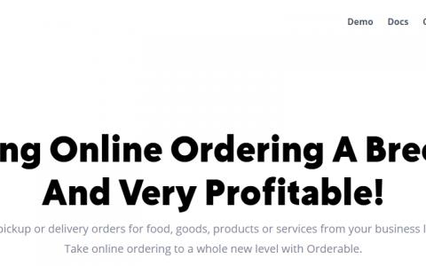 Orderable Pro – WordPress 食品订购系统