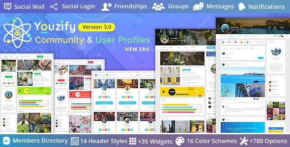 Youzify v3.1.9(以前的 Youzer) – BuddyPress 社区和 WordPress 用户配置文件插件