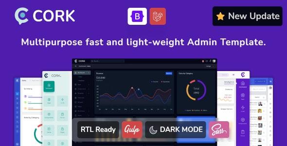 Cork v2.1.1 – 响应式管理仪表板模板