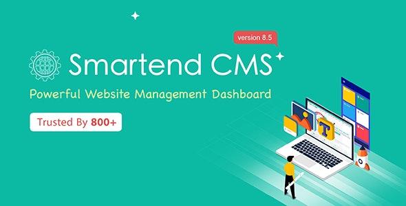 SmartEnd CMS v8.5.0 – 带有前端和 Restful API 的 Laravel 管理仪表板