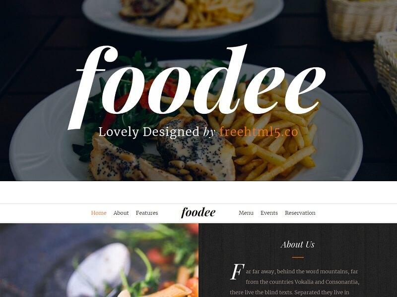 Foodee 免费餐厅 HTML 模板