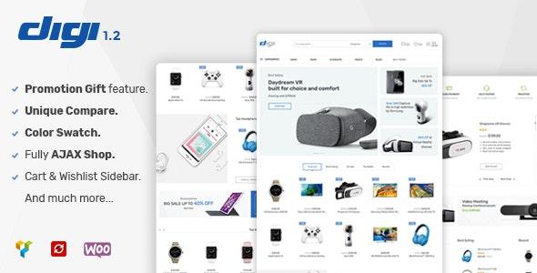 Digi v1.6.6 – 电子商店 WooCommerce 主题