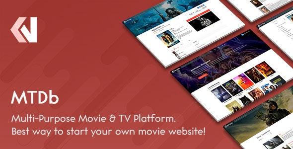 MTDb v3.2.4 – 包含電影和電視節目的站點腳本