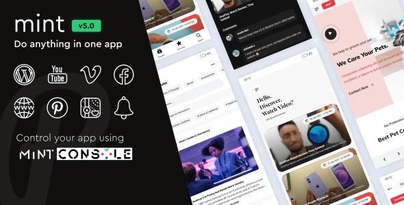 Mint v4.2 – 带有远程配置的 WebView 和多用途 Android 应用程序