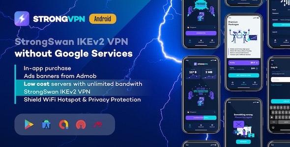 StrongVPN v1.4 – 适用于 Android 的 StrongSwan IKEv2 VPN 稳定且免费的 VPN 代理