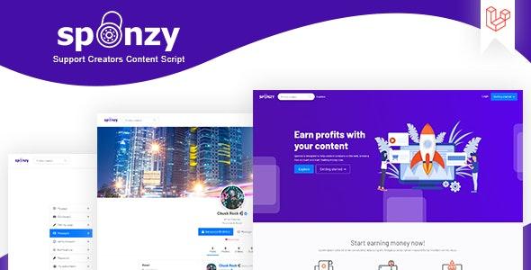 Sponzy v2.5 – 支持创作者内容脚本