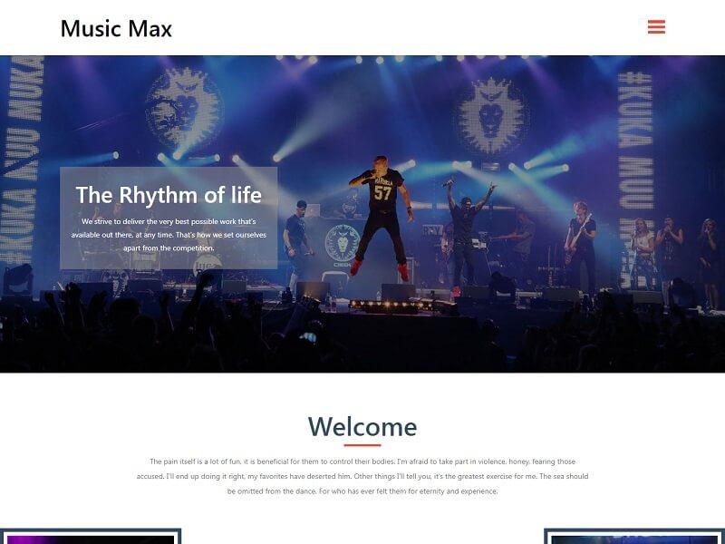 Music Max 免费 HTML 网站模板
