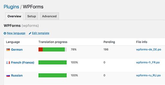 Loco Translate中的语言选择