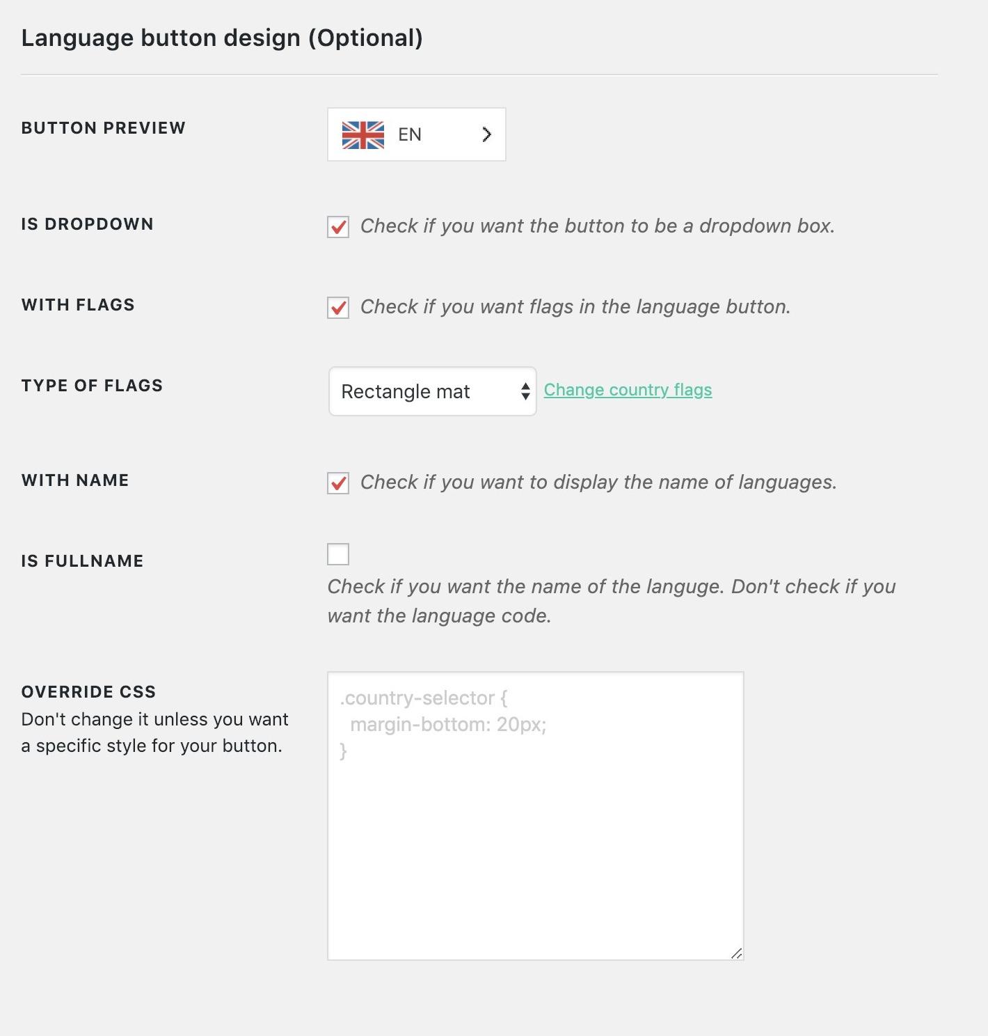 weglot语言按钮设计