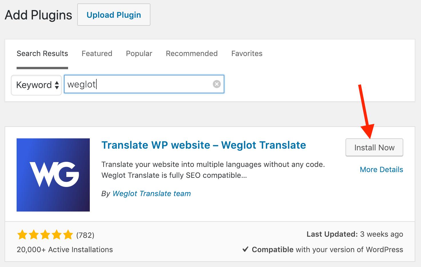 翻译wp网站weglot