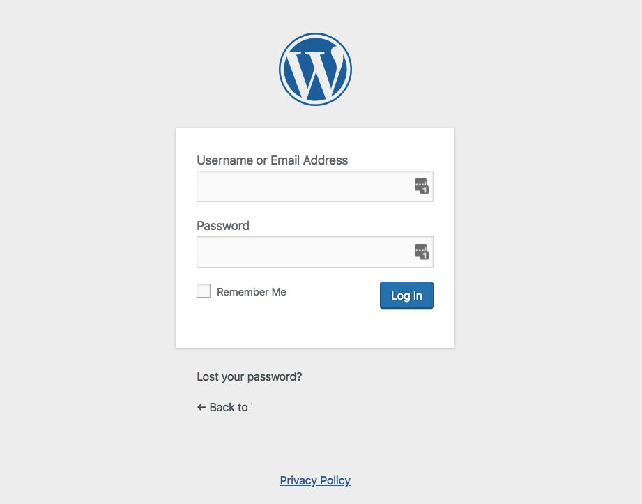 WordPress登錄
