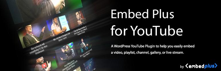 YouTube的Embed Plus –图库,频道,播放列表,实时流
