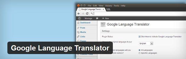 谷歌語言翻譯WordPress翻譯插件