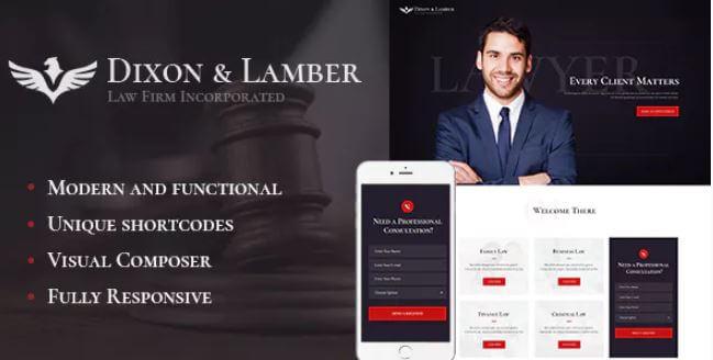 Dixon&Lamber |律师事务所WordPress主题