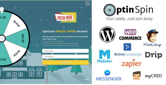 OptinSpin v2.1.3  - 与WordPress集成的财富轮