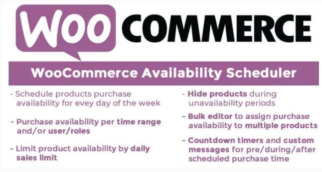 WooCommerce可用性调度程序